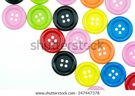 Colored buttons white background  - stock photo