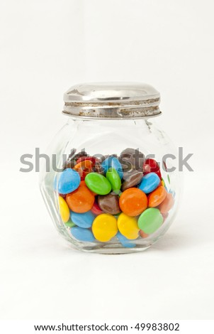 colored candy jar