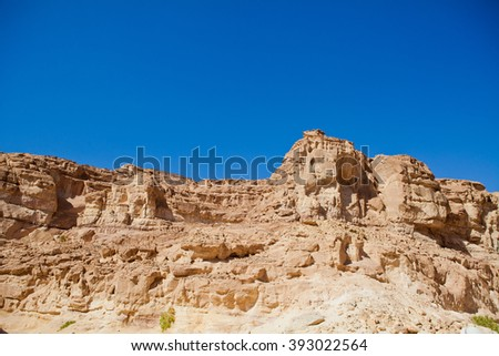 Colored Canyon in Egypt - stock photo