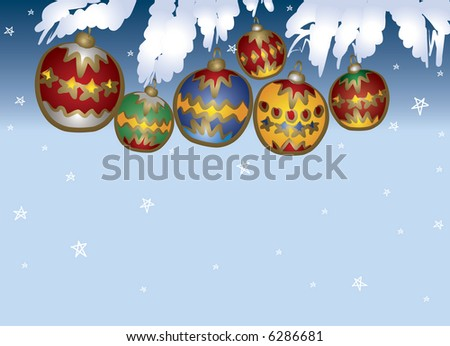 Colored Christmas Ball decoration