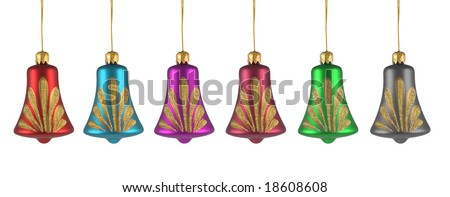 colored christmas tree ornament on white background. FIND MORE christmas ornaments in my portfolio