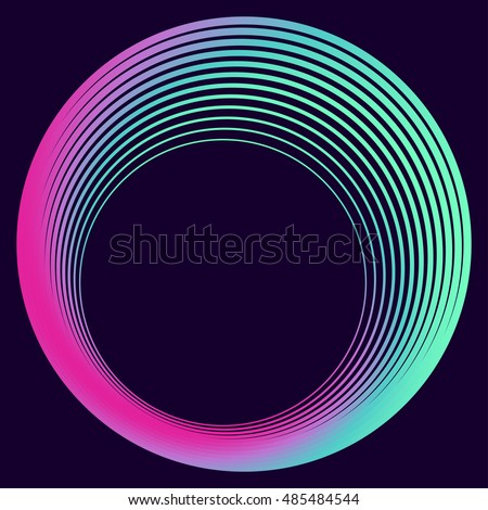 Colored circle on the dark background. Abstract art. Raster copy of vector file.