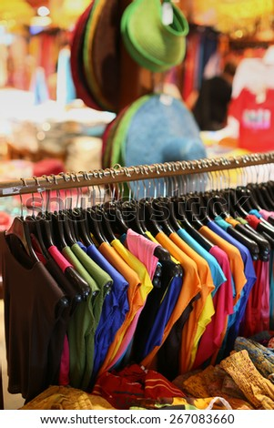 colored clothing - stock photo