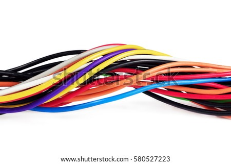 Colored Computer Wires Cable Computer Power Stock Photo (Royalty ...
