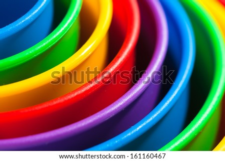 colored concentric shapes. child's play.