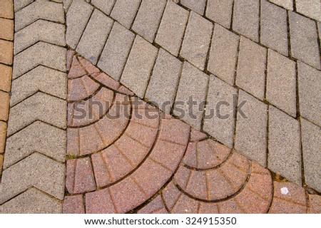 Colored concrete paving                 - stock photo