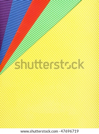 colored corrugated  paper background