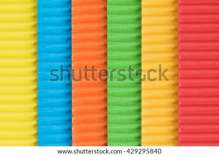 Colored corrugated paper, can be used as background