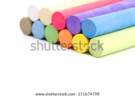 Colored crayons - stock photo