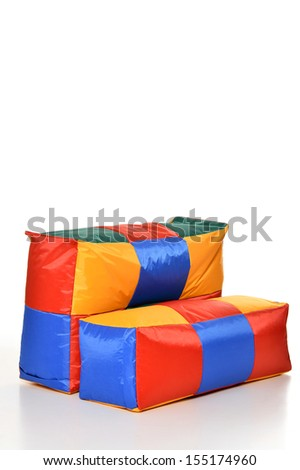 Colored cushion for sport, leisure, rest, exercising