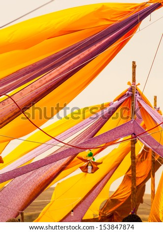 colored draperies in the wind 2 - stock photo