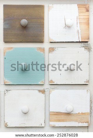"""colored drawers style """"Shabby chic"""" - stock photo"""