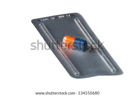Colored encapsulated single drug dose