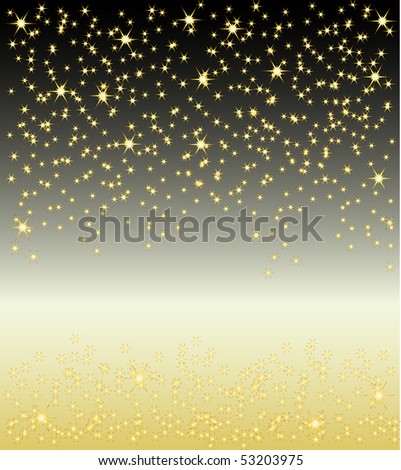 Colored falling down stars background template.