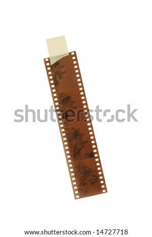 Colored Film strip isolated on white