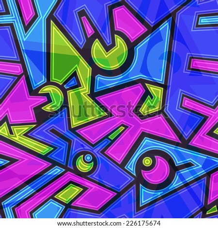 colored future geometric seamless pattern (raster version) - stock photo