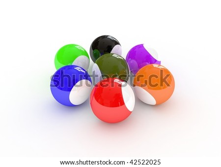 colored game balls