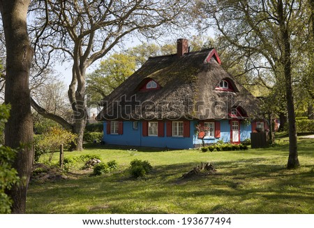 Colored houses Island Ruegen baltic coast, Germany  - stock photo