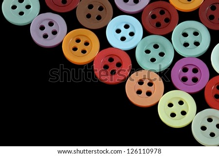 Colored knobs  on a black background