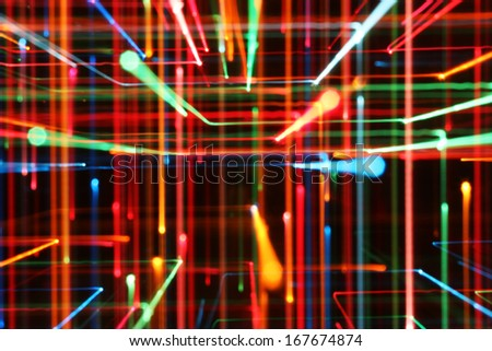 Colored Lines, Abstract - stock photo