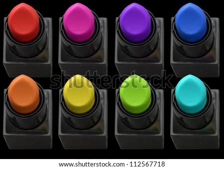 colored lipstick - stock photo