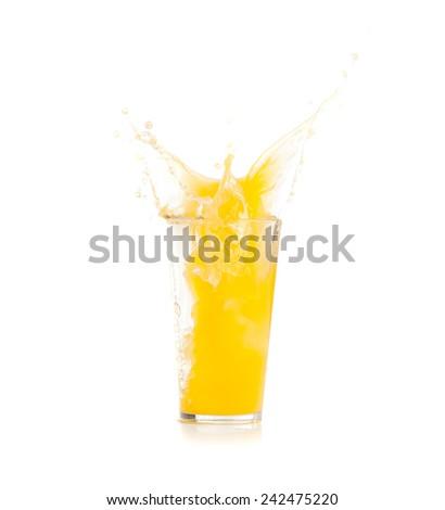 colored liquid splash - stock photo