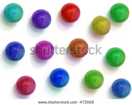 Colored Marbles - stock photo