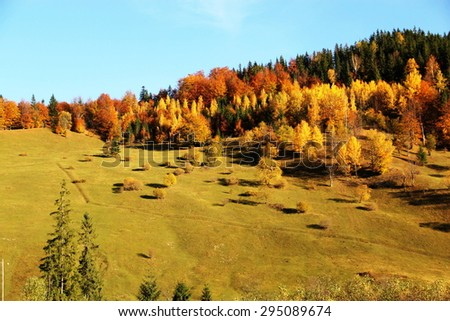 colored mountain - stock photo