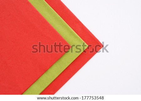 colored napkins - stock photo