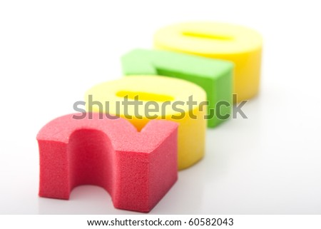 colored numbers on a white background kids - stock photo