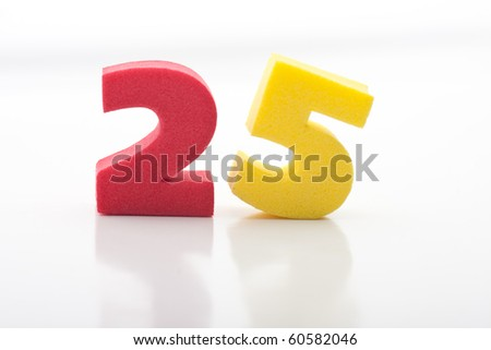 colored numbers on a white background kids