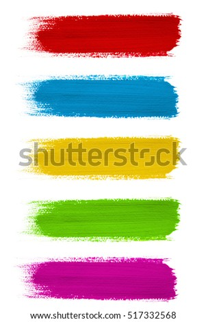 colored paint strokes on white