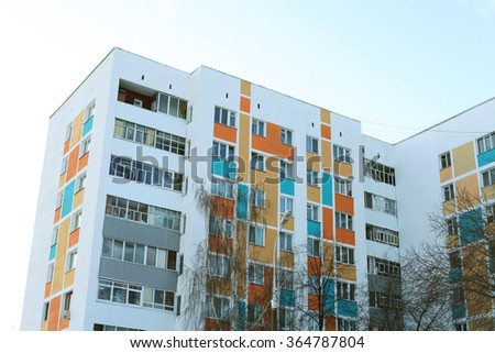 colored panel house