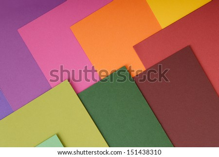 colored paper - stock photo