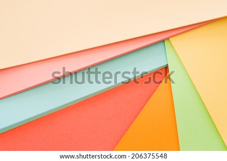 colored paper sheets - stock photo
