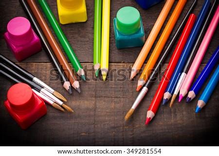 Colored pencils - color pencil - stock photo