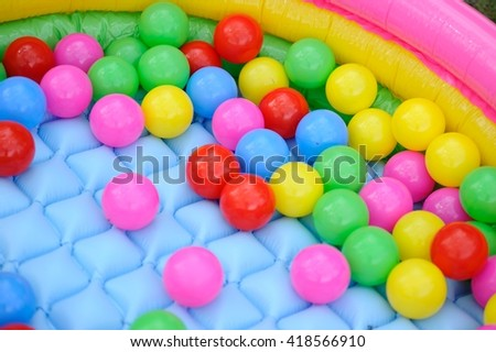colored plastic balls