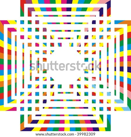 Colored rectangular design