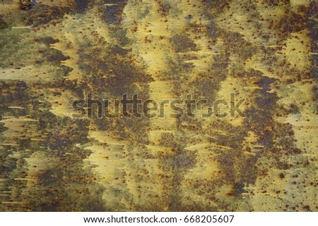 Colored rusty iron wall texture