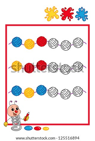 colored sequence, ball - stock photo