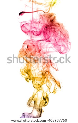 Colored smoke isolated on white background. Collection backgrounds colored smoke on a white background. Abstract background - stock photo