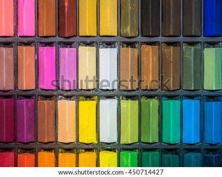 colored Soft pastel chalk for artists