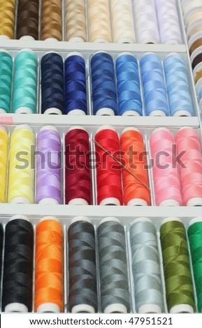 colored spool - stock photo