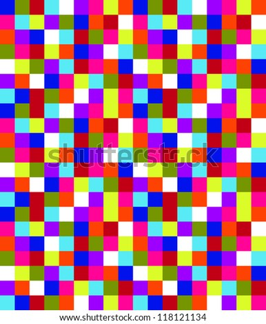 Colored Square Pattern - stock photo