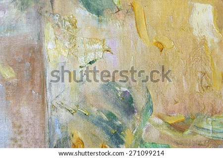 Colored stains oil paints on canvas, background - stock photo