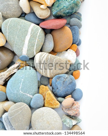 colored stones on white background - stock photo