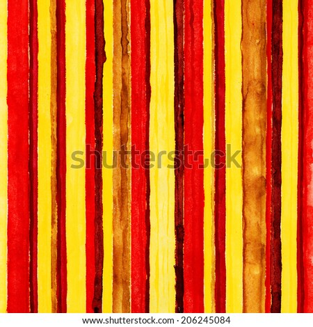 Colored stripes. Watercolors painted background.