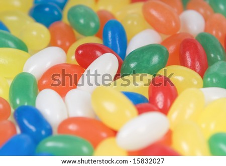 colored sugar beans for children