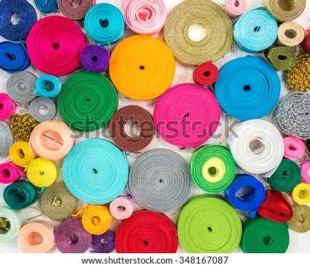 Colored tape coiling
