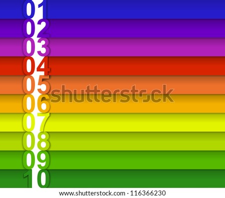 colored tape with the numbers for your text - stock photo